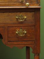 Antique Oak Roll Top Writing Desk, Tambour Front Bureau Desk (4 of 20)