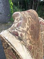 Antique English Upholstered Armchair (5 of 7)