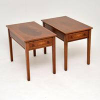 Pair of Antique Inlaid Mahogany Side Tables (7 of 12)