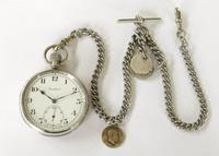 1930s Cortebert Pocket Watch & Chain (2 of 4)