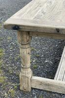 Rustic Bleached Oak French Farmhouse Dining Table (14 of 34)