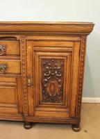 Antique Late 19th Century Oak Sideboard Dresser Base. (6 of 14)