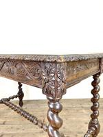 Antique 19th Century Carved Oak Table (7 of 11)