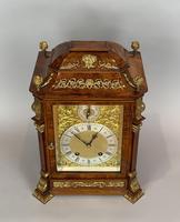 Fine Quality Burr Walnut Bracket / Mantel Clock by Lenzkirch (12 of 15)