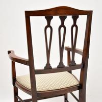 Antique Edwardian Mahogany Armchair (6 of 10)