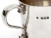 Edward Barnard Silver Christening Mug with a Plain Body and Cast Scroll Handle (4 of 4)