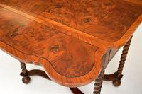 Pair of Antique Burr Walnut Drop Leaf Side Tables (11 of 12)