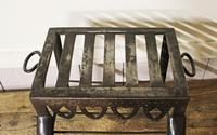 Antique Steel Fireplace Footman. Kettle and Plate Trivet. Welsh Folk Art (5 of 10)