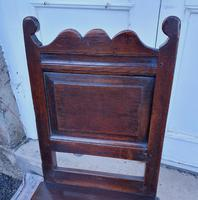 Good 17th Century Oak Hall Chair (5 of 6)