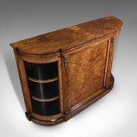 Antique Credenza, English, Burr Walnut, Sideboard, Display Cabinet, Regency (7 of 12)