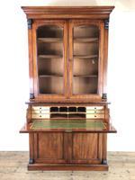 Victorian Mahogany Secretaire Bookcase (5 of 12)
