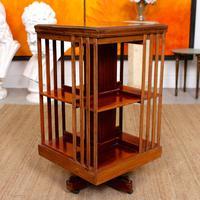 Edwardian Revolving Bookcase Inlaid Mahogany (2 of 6)
