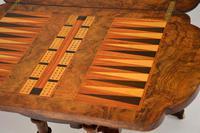 Antique Victorian Burr Walnut Games & Work Table (12 of 14)