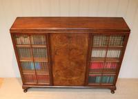 Burr Walnut Bookcase by Heals (7 of 11)