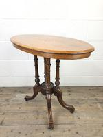 Victorian Walnut Oval Tilt Top Occasional Table (M-1713) (4 of 11)