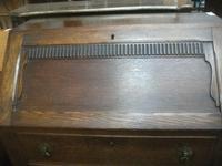 Three Drawer Oak Bureau (2 of 4)