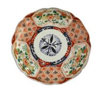 Lotus Shaped Meiji Period Imari Plate