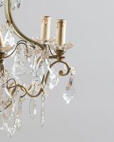 Large French Glass & Brass Chandelier (3 of 6)