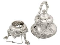 Sterling Silver Louis Spirit Kettle - Antique Victorian 1855 (7 of 18)