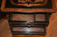 Striking 19th Century French Ebonised & Marquetry Side Table c.1880 (12 of 16)