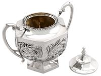 Chinese Export Silver Three Piece Tea Service - Antique c.1900 (8 of 12)