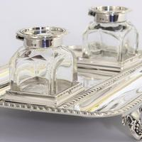 Quality Silver Inkstand with Twin Inkbottles by Elkington & Co. 1898 (2 of 12)