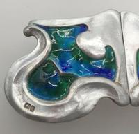 Art Nouveau Silver Enamelled Belt Buckle Kate Harris for William Hutton 1903 (4 of 6)