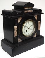 Antique French Slate Mantel Clock 8-Day Striking Mantle Clock c.1900 (3 of 5)