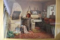 Antique Original Watercolour - A Devonshire Cottage - Henry Tozer 1864-1938 (8 of 11)