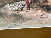 19th Century Scottish Highlands Watercolour Loch Kishorn By William Leighton Leitch (8 of 36)
