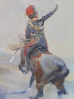 Pair of Victorian Watercolours The Hussars Artist George Clark (5 of 10)