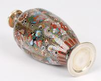 Oriental, Chinese / Japanese Exceptional Silver Metal Cloisonne Vase (6 of 25)