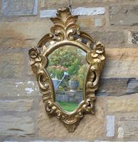 Antique Florentine Shield Shape Mirror (4 of 5)