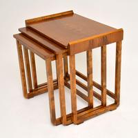 Original Art Deco Figured Walnut Nest of Tables (4 of 11)