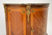 Antique French Inlaid  Marquetry Marble Top Cabinet (7 of 10)