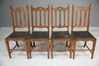 Arts & Crafts Oak Dining Chairs (5 of 12)