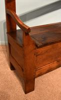 Early Nineteenth Century French Cherry Wood Bench (3 of 7)