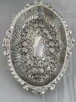 Victorian Antique Silver Dish or Bowl 1892 Elkington Sterling Silver Fruit Dish (9 of 9)
