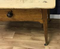 Georgian Two Drawer Pine Side Table (3 of 19)