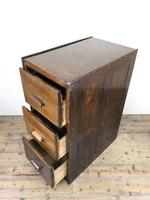 Early 20th Century Antique Oak Three Drawer Filing Cabinet (10 of 11)