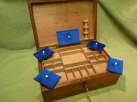 Solid Figured Oak Jewellery / Work Box - Fitted Tray (5 of 10)