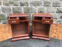 Pair of Art Deco Burr Walnut  Bedside Cabinets (5 of 10)