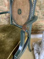 Fabulous Set of 6 Green Painted Armchairs (4 of 12)