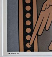 Christopher Dresser, Original 1875 Chromolithograph Print from Studies in Design, Framed (4 of 4)