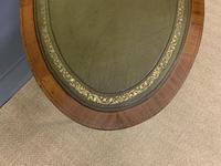 Edwardian Oval Inlaid Mahogany Writing Table (9 of 13)