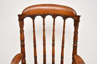 Antique Victorian Carved & Cane Seated Armchair (7 of 11)