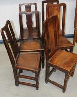 1850's Set 6 Oak Harlequin Dining Chairs (2 of 3)
