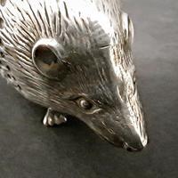 Edwardian Silver Hedgehog Pin Cushion (5 of 6)