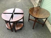 Edwardian Mahogany Round Nest of 5 Tables (7 of 9)