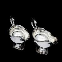 Pair of Georgian Solid Silver Pedestal Sauce Boats - William Collins 1774 (16 of 20)
